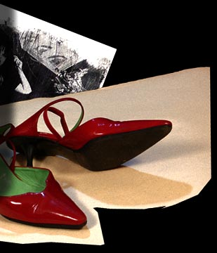 Red shoes from Catherine Texier's LOVE ME TENDER